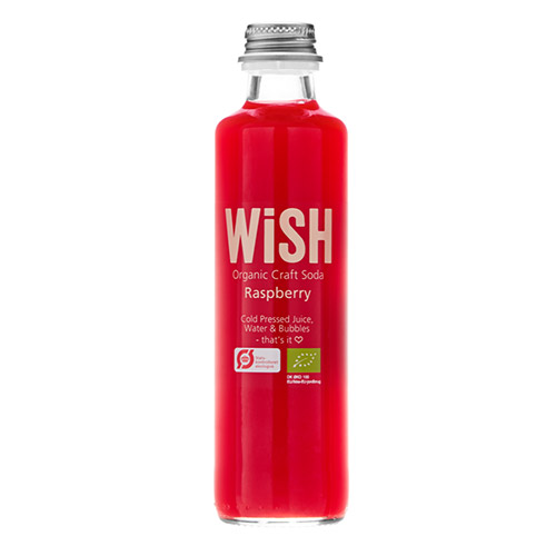 WiSH Organic Craft Soda with raspberry
